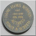TQ3004 : Plaque re Dame Flora Robson, Wykeham Terrace, BN1 by Mike Quinn
