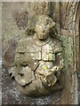 TQ3004 : Stone carvings in St. Nicholas' Rest Garden, Dyke Road, BN1 by Mike Quinn