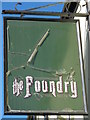 TQ3104 : Sign for The Foundry, Foundry Street, BN1 by Mike Quinn