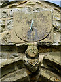 TA0079 : Sundial and St Peter over St Peter's church porch, Willerby by John S Turner
