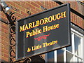 TQ3104 : Sign for The Marlborough Hotel, Pavilion Street, BN1 by Mike Quinn