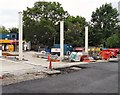 SJ9594 : New forecourt laid by Gerald England