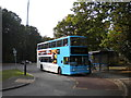 SP2978 : Bus in Jardine Crescent turning circle by Richard Vince