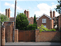 SP2864 : Rear of houses, High Street by Robin Stott