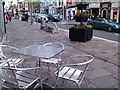 H4572 : Empty tables, High Street, Omagh by Kenneth  Allen