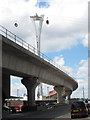 TQ3980 : Viaduct and pylon by Stephen Craven