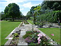 TQ3079 : Terraced rose garden, Lambeth Palace Gardens by Ian Yarham