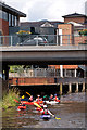 SU9949 : Kayaking through Guildford by Ian Capper