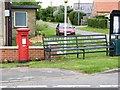 TF2159 : Tattershall - Woodhall Spa postbox (ref. LN4 99) and millennium seat  by Alan Murray-Rust
