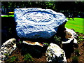 NO3695 : HM the Queen's Diamond Jubilee Stone outside Glen Muick Church by Godfrey Lomas
