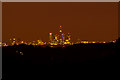 TQ3280 : Night view of City of London from Reigate Hill by Ian Capper