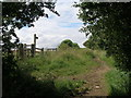 SE3443 : Bridleway junction at Rigton Moor by John Slater