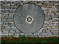 SP1521 : Millstone at Slaughter Farm (1) by Nigel Mykura