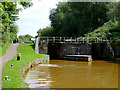 SJ8354 : Paired Locks No 42 near Kidsgrove, Staffordshire by Roger  Kidd
