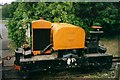 "SO6621 : ""Digger"" at entrance to Alan Keef Ltd in 1998 by Ruth Riddle"