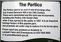 TQ3275 : Explanatory notice for the Portico by Dr Neil Clifton