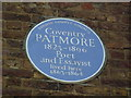 TQ2981 : Blue plaque to a poet in Percy Street by Basher Eyre