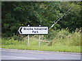TG2800 : Brooke Industrial Park sign by Adrian Cable