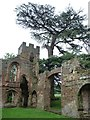 SJ5301 : South-east turret, Acton Burnell Castle by Christine Johnstone