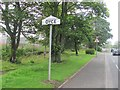 NJ8811 : Dyce sign by Richard Webb