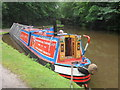SJ9590 : Working Narrow Boat Hadar moored below Marple bottom lock. by Keith Lodge