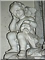 SU3193 : Cherub, Packer Monument, Church of St Faith, Church Street, Shellingford (1) by Brian Robert Marshall