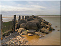 SD3046 : Rocks at the End of the Groyne by David Dixon