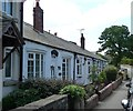 SE3641 : Four single story cottages, Syke Lane by Christine Johnstone