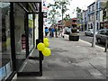 H4572 : Yellow balloons, High Street, Omagh by Kenneth  Allen