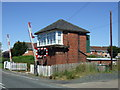 NZ2785 : Signal box, West Sleekburn by JThomas