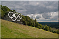 TQ1751 : Box Hill Olympic Rings by Ian Capper
