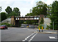 TQ3272 : Dulwich:  Railway bridge over Alleyn Park by Dr Neil Clifton