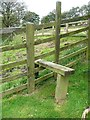 SE0025 : Stile on Hebden Royd Footpath 51 off Park Lane  by Humphrey Bolton