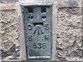 SK2085 : Ordnance Survey  Flush Bracket 638 by Peter Wood