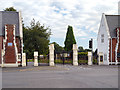 SJ6189 : Warrington Cemetery Gates by David Dixon