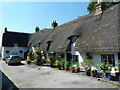 TL1554 : Thatched cottage on the High Street, Roxton by Alexander P Kapp