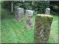 NU0622 : Gravestones , Old Bewick Churchyard by Derek Voller