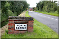 SK8566 : North Scarle village sign  by Alan Murray-Rust