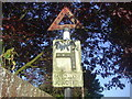 TL4948 : Pre-Worboys road junction sign, Brewery Road, Pampisford by David Howard