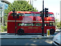 TQ2877 : Routemaster bus approaching Chelsea Bridge by Alexander P Kapp