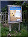 TM3475 : Notice Board of St Michael and All Angels' Church by Adrian Cable