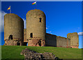 SJ0277 : Rhuddlan Castle - twin-towered gatehouse by Mike Searle