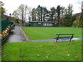 SS9795 : Gelli Park bowling green, Gelli by Jaggery