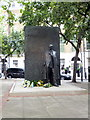 TQ2781 : Statue of Raoul Wallenberg in Great Cumberland Place by PAUL FARMER