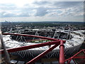 TQ3784 : Stratford: looking down on the Olympic Stadium by Chris Downer