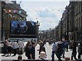 NZ2464 : Big screen at the top of Grey Street by Graham Robson
