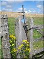 TQ3711 : Bridleway gate marker near Mount Harry by Oast House Archive