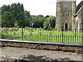 SK8770 : Churchyard railings, Harby  by Alan Murray-Rust