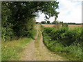 SE3835 : Footpath towards Honesty Farm by John Slater