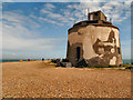 TQ6401 : Martello Tower, Langney Point by David Dixon
